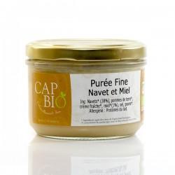 Mousseline de navets au miel Bio, 220gr