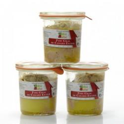 Lot de 3 Foies gras entiers de Canard, 3x100gr