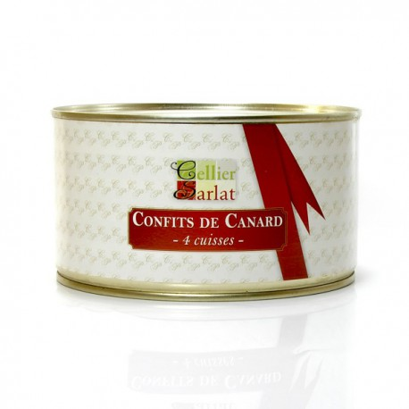 Confit de canard 4 cuisses 1250g - Cuisiner cuisse de canard confite ...