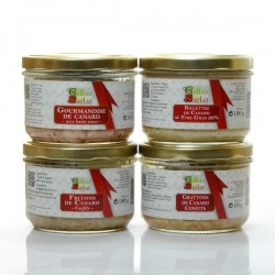 Assortiment de terrines et rillettes 5/6 parts 740g