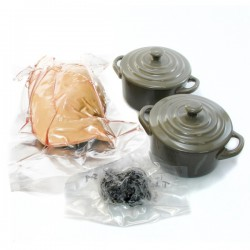 Kit de Fabrication pour terrines de Foie gras frais entier truffé, 500g