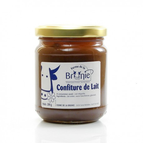 confiture de lait ferme de la brunie 200g foie gras sarlat. Black Bedroom Furniture Sets. Home Design Ideas