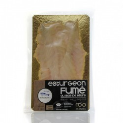 Plaque esturgeon fume tranche 100g