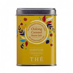 Thé bleu vert Oolong caramel beurre salé Boite 80g