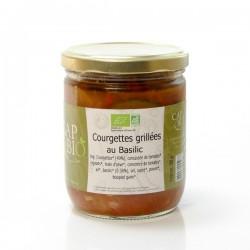 Courgettes grillées au basilic 380g