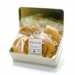 Boite à biscuits 6 sablés artisanaux abricot coquelicot 6x50gr soit 300gr