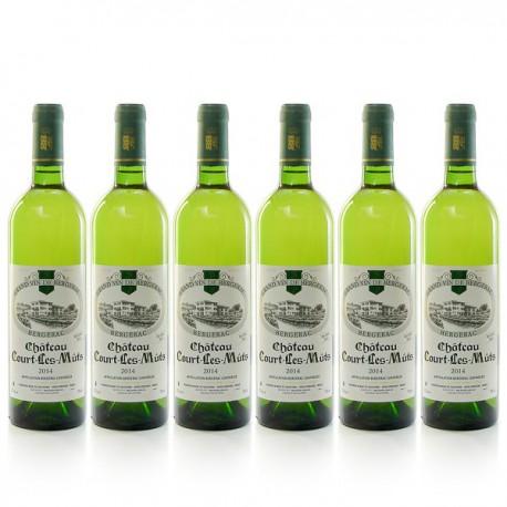 Lot de 6 bouteilles Château Court les Mûts AOC Bergerac sec 2015