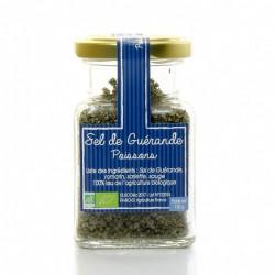 Sel de guérande aromatisé bio spécial poisson, 100g