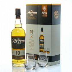 Whisky Arran 10 ans Coffret + 2 verres 46° 70cl