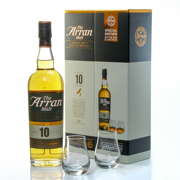 whisky arran 10 ans coffret 2 verres 46 70cl foie gras sarlat. Black Bedroom Furniture Sets. Home Design Ideas