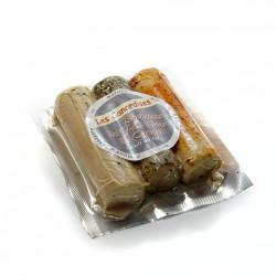 3 Rouleaux de foie gras entier cuits au sel 150g