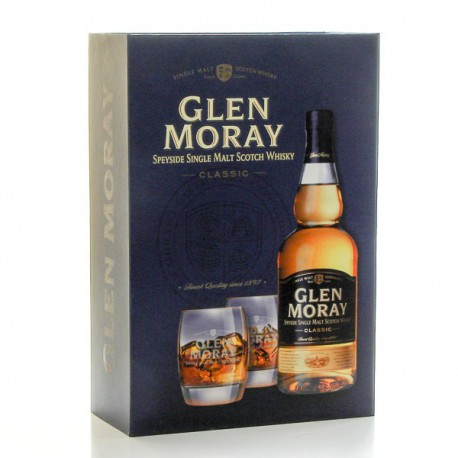 whisky glen moray classic coffret et 2 verres 40 70cl foie gras sarlat. Black Bedroom Furniture Sets. Home Design Ideas