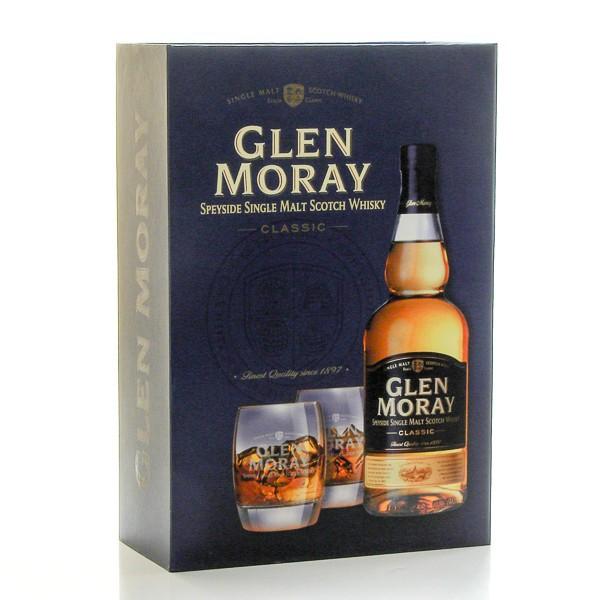 whisky ecosse glen moray classic coffret et 2 verres single malt scotch 40 70cl foie gras sarlat. Black Bedroom Furniture Sets. Home Design Ideas