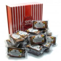 Boîte douceur 16 gâteaux aux noix et chocolat 16x80g soit 1280g