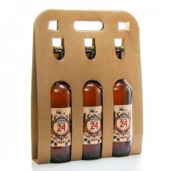 Pack de 3 bières Brassée 24 ambrées de la Brasserie artisanale de Sarlat 3x75cl