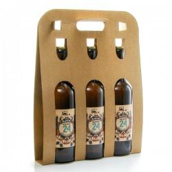 Pack de 3 bières Brassée 24 blanches de la Brasserie artisanale de Sarlat 3x75cl