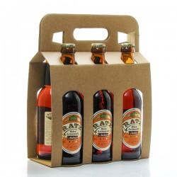 Pack de 6 bières ambrées artisanales du Quercy Brasserie Ratz 6 x 33cl soit 198cl