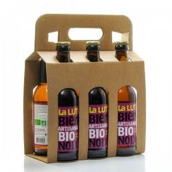 Pack de 6 bières artisanales du Périgord à la Noix Brasserie La Lutine 33cl x 6 soit 198cl