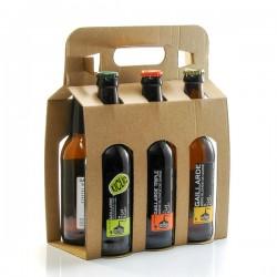 Pack de 6 bières artisanales du Périgord Brasserie La Gaillarde 33cl x 6 soit 198cl