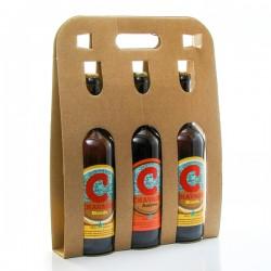 Pack de 3 bières artisanales du Périgord de la Brasserie Chavagn' 3x75cl soit 225cl