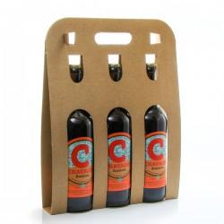 Pack de 3 bières ambrées artisanales Brasserie La Chavagn' 75cl x 3 soit 225cl