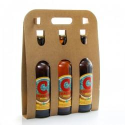 Pack de 3 bières blondes artisanales Brasserie La Chavagn' 75cl x 3 soit 225cl