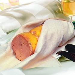 Foie Gras Entier de Canard mi-cuit au Torchon