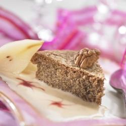 Gâteau aux Noix et Mini-Poires