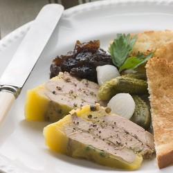 Foie gras de Barbarie entier mi-cuit au torchon