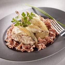 Caille confite farce royale au foie gras