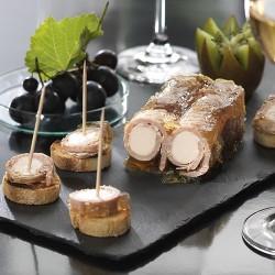 Flûteaux de Jambon au Foie gras.