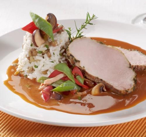 Recette r ti de veau forestier moutarde la truffe foie gras sarlat - Cuisiner un roti de veau ...