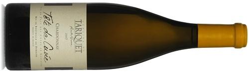 Bouteille de Tariquet Tête de Cuvée Cépage Chardonnay élevé en barriques