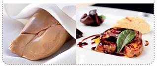 Foie gras cru sous vide