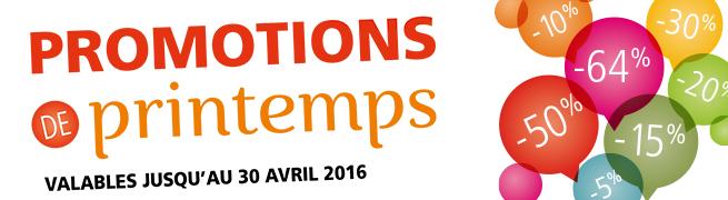 Promos Printemps 2016