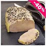Lobe de Foie Gras de Canard Entier mi-cuit au Poivre Noir 320g
