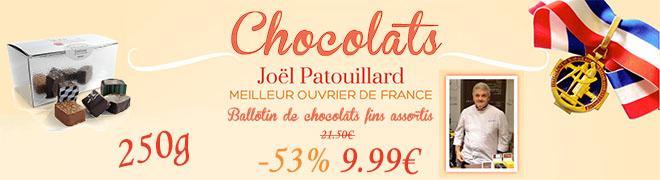 Ballotin de chocolats fins assortis 250g -25%