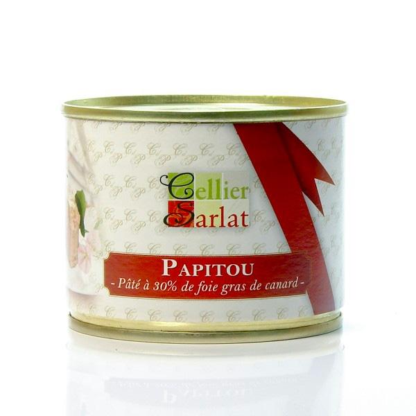 Papitou Pâté à 30% de Foie Gras de Canard 200g