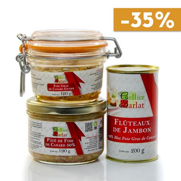 Lot de 3 spécialités au foie gras de canard soit 410g