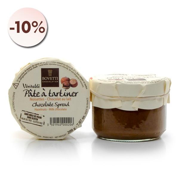 Pâte à Tartiner véritable Chocolat au Lait et Noisettes, 200g