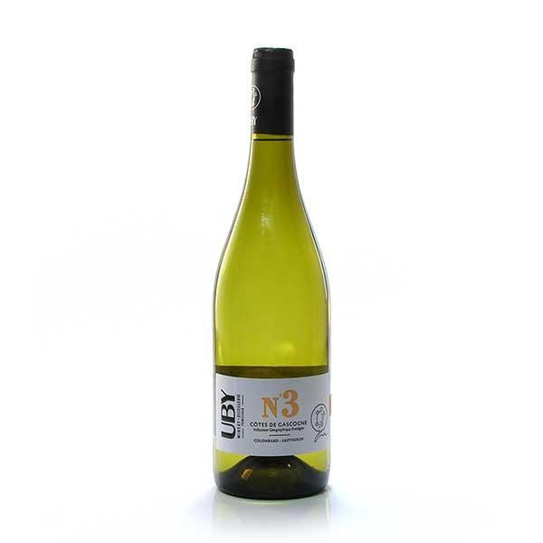 Domaine Uby Colombard-Sauvignon Blanc N°3 IGP Côtes de Gascogne 2020 75cl