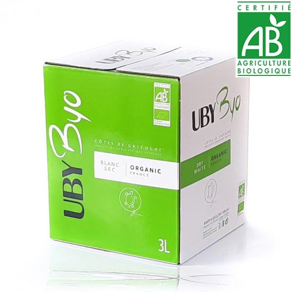 Domaine UBY Byo Blanc Sec IGP Cote de Gascogne Ubycub Bib 3L