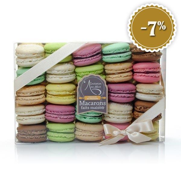 Coffret 25 macarons frais artisanaux (500g)