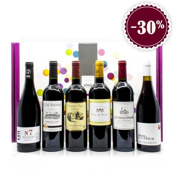 Lot de 6 Bouteilles de Vin Spécial Fête des Pères 6x75cl :