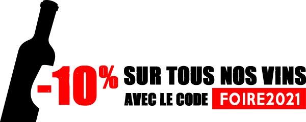 -10% sur tous nos vins