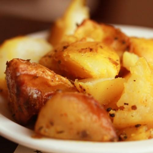 Pommes de Terre Sarladaises cuisinés aux cèpes et à la graisse d'oie