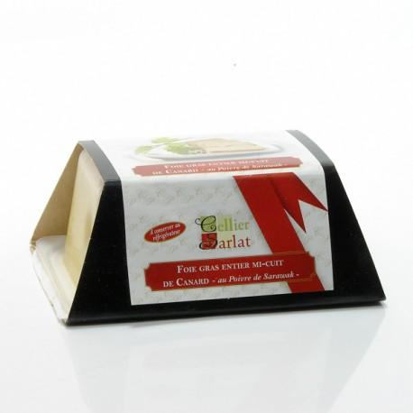 Foie Gras de Canard Entier du Sud Ouest mi-cuit au Poivre de Sarawak 180g