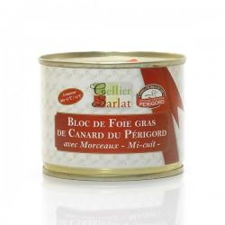 Bloc de foie gras de Canard mi-cuit IGP Périgord, 200g