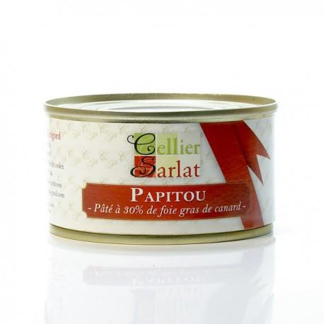 Papitou Pâté à 30% de Foie Gras de Canard 130g