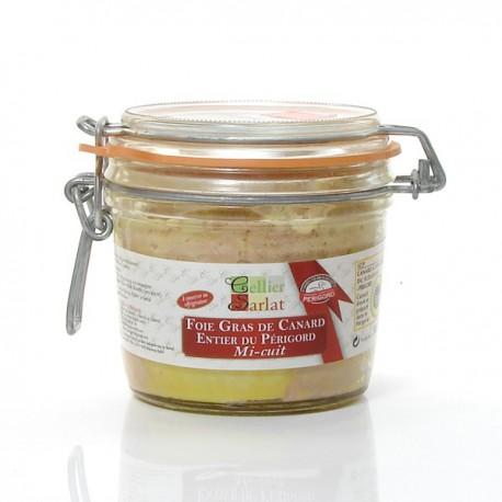 Foie Gras de Canard Entier mi-cuit IGP Périgord, 300g